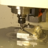 Focus engine mount being cut on our CNC machine.
